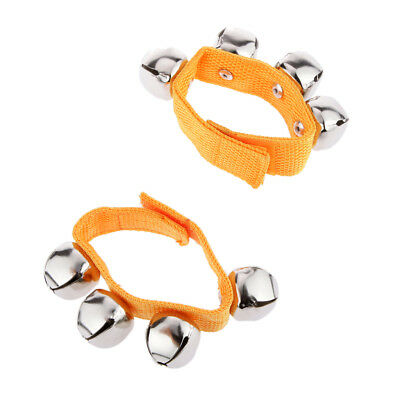 1 Pair Yellow Activity Wrist Hand Shake Bell Ring Baby Toys Kids Bell Rattle