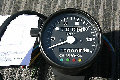 HONDA BLACK Mini Speedometer Speedo Gauge MPH gauges indicator lights 2240:60