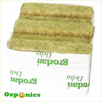 Grodan Wrapped Rockwool Cube 75Mm X 75Mm Growing Medium With No Hole 16 Pack