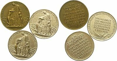3 DIFF 1923 GERMAN HARD TIMES TOKENS w INSANE INFLATION PRICES! BREAD 4 BILLION!