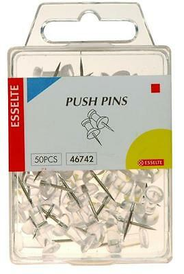 Esselte 46742 Push Pins Clear Pkt50