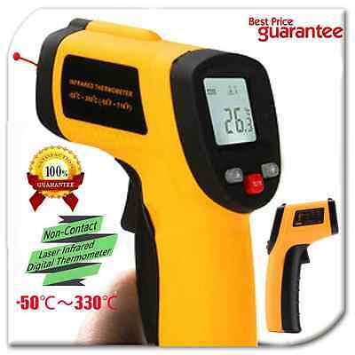 Handheld Digital LCD Temperature Thermometer Laser Non-Contact IR Infrared Gun#F