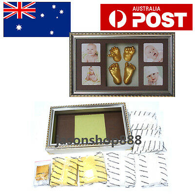 Baby Shower Handprint 3D Casting Kit Gifts With Photo Frame Wedding Keepsake New
