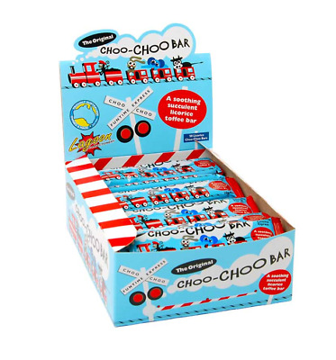 BOX OF 50 x 20g CHOO-CHOO BARS - A SOOTHING SUCCULENT LICORICE TOFFEE BAR