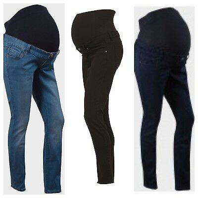New Look Over the Bump Maternity Skinny Jeans.Sizes 6-18,blue or black.NEW.