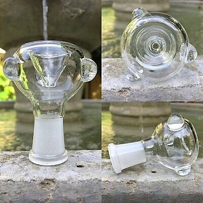 14mm / 18mm Clear Round Female Glass Slide Bowl - Fast Free USA Shipping