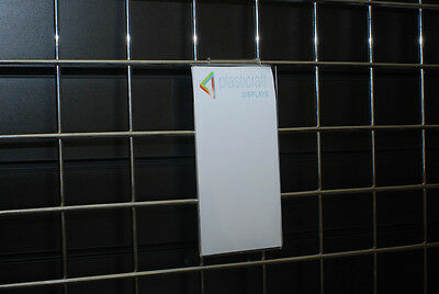 Gridwall Menu Holder 1/3 A4 Portrait retail shop display