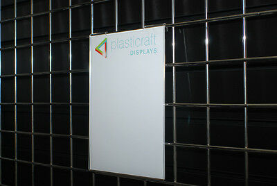 Gridwall Menu Holder A4 Portrait retail shop display