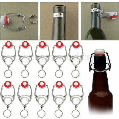 1/10pcs Beer Wine Bottles Flip Top Stopper Root Homebrew Replacement Swing Cap