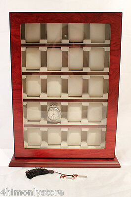 Rosewood 20 Large Wrist Watch Jewellery Cabinet Wood Display Storage Case Box