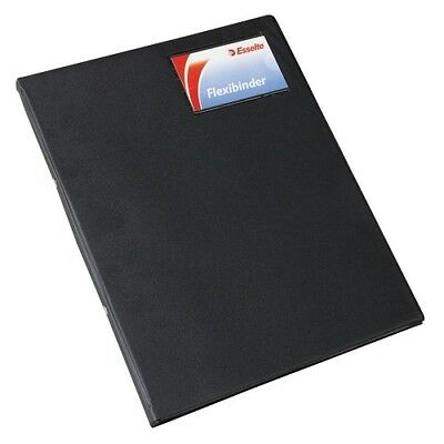 Esselte 013949Blk Binder Flexi PVC A4 2 O Ring 20mm Black