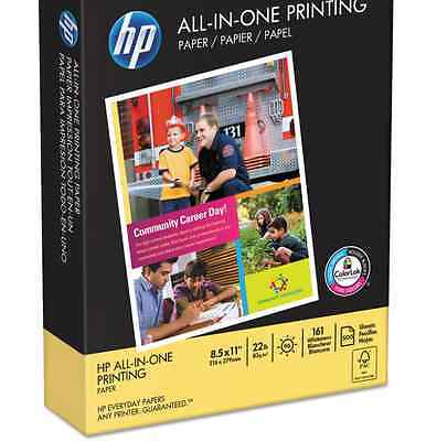 HP All-In-One Printing Paper, 97 Brightness, 8-1/2 x 11, White, 500 Shts/Ream