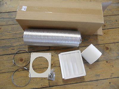 whirlpool 120/125mm Universal aluminium Cooker Hood Extraction Vent / Duct Kit