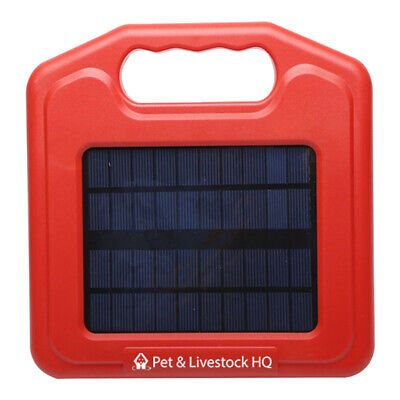 3km Solar Electric Fence Energiser Energizer Power Charger Fencing Farm 0.1J