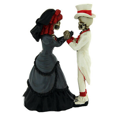 Wedding Gift Devoted To You Skeletons Ornament 14cm | Bride Groom | Cool Unusual