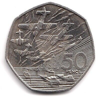 1994 Circulated 50p Fifty Pence D Day Normandy Landings Commemorative Coin