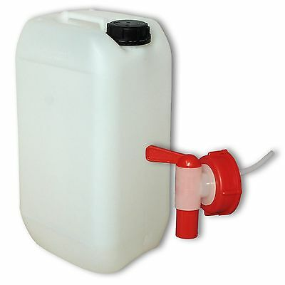 Plastic canister Jerrican 15 L DIN61+ 1 tap camping, made in Germany (22096+010)