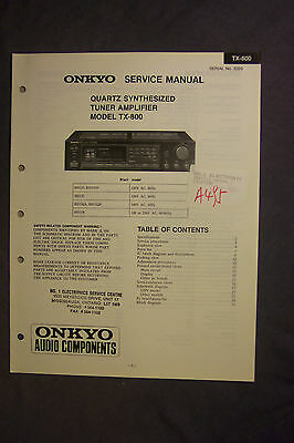 Onkyo Quartz Synthesized Tuner Amplifier TX-800  Service Manual