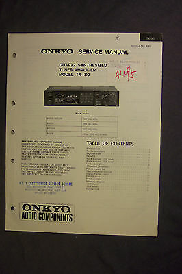 Onkyo Quartz Synthesized Tuner Amplifier TX-80 Service Manual
