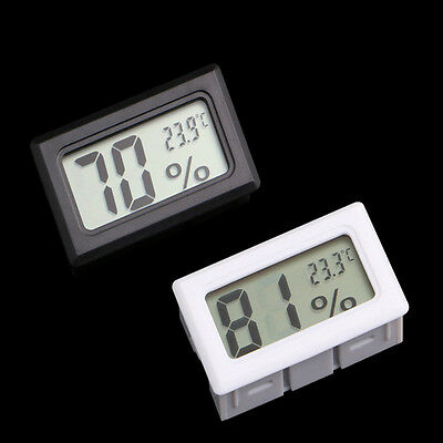 Mini Lcd Digital Vivarium Tank Humidity Meter Thermometer Snake Reptile