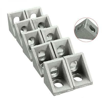 10pcs 20x20mm Triangle Corner Joint Right Angle Bracket Furniture Fittings
