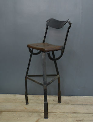 Rare Vintage Industrial Factory Engineers Machinist Draftsman Chair