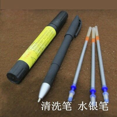 Silver line mark Refill pen+Cleaning pen kit set for cutting leather craft Tool