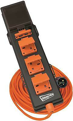 NEW 3 Way Mobile Mains Unit RCD 5-in-1 Power Hook Up Cable Lead with USB Points