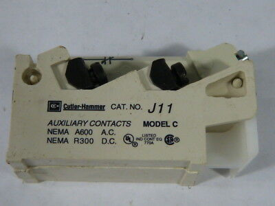 Cutler Hammer J11 Auxiliary Contact  USED