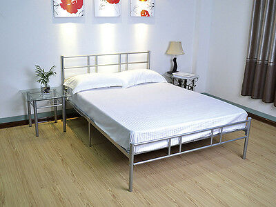 Minimalist Design Metal Bed Frame Two Support Legs in Range of Colours And Sizes