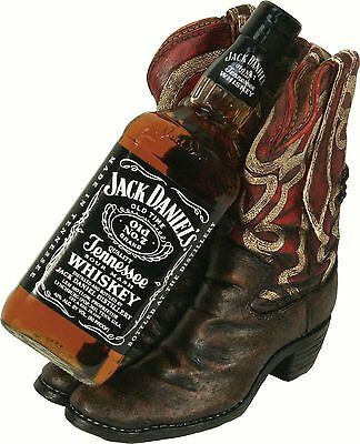 River's Edge Western Wine Bottle Holder Cowboy Boots Decorative Countertop Gift