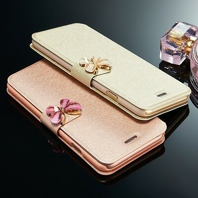 Luxury Flip Leather Slim Wallet Card Magnetic Case Cover For Samsung & iPhone