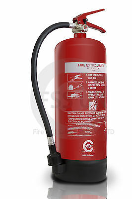 6 LITRE WATER FIRE EXTINGUISHER HOME OFFICE WORKPLACE.  6 L Water Extinguisher.