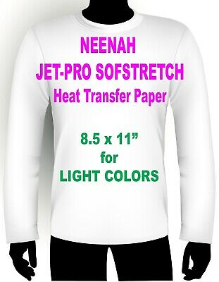"Jet Pro Sofstretch Inkjet Heat Iron On Transfer Paper 8.5 X 11"" - 150 Sheets"