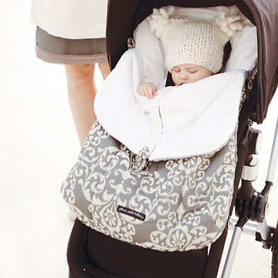 NEW Petunia Pickle Bottom Stroller Bunting Bag Earl Gray Grey Muff Baby Bundle