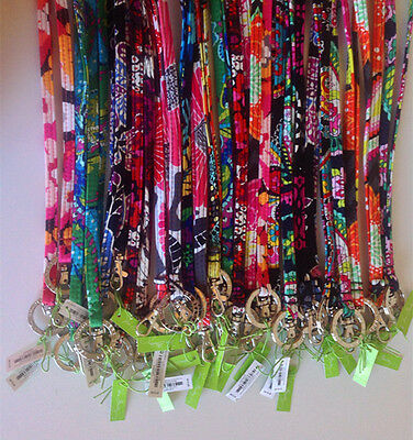 *VERA BRADLEY*~Clip & Key Ring Lanyard~ (46 Colors New color added!) *NWT Sale!