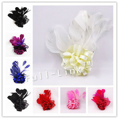 Feather Flower Headband Fascinator Weddings  Ladies Day Race Royal Ascot SF-02