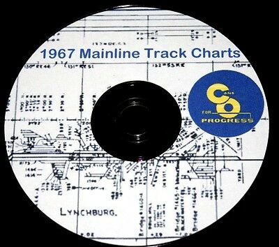 Chesapeake & Ohio 1967 Mainline Track Chart Diagram PDF Pages on DVD