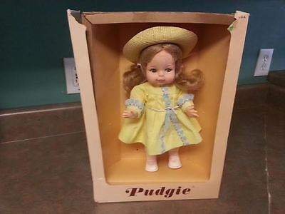 "Vintage ""Pudgie Horsman Plastic Doll With Clothes & Box"