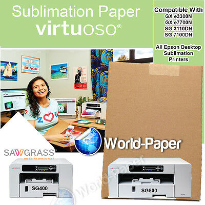 """Sublimation Heat Transfer for Virtuoso SG 400 8.5"""" x 14"""" Sublimation Paper :)"""