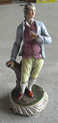 "Antique 1800s Capodimonte Florence Suitor Boy Figurine 6"" Tall"