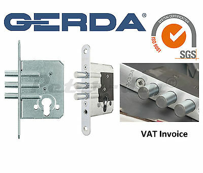 Gerda High Quality Additional 3 Bolt Mortice Home Door Lock ZW500 or ZW550