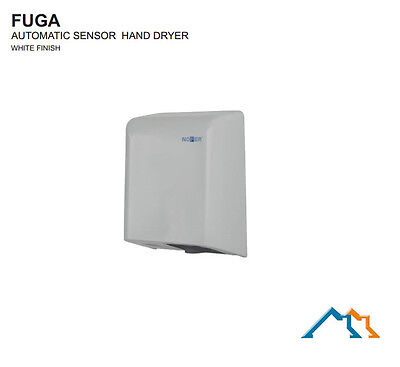 Silver Commercial Grade Bathroom Wall Mounted Automatic Jet Hand Dryer - Grey