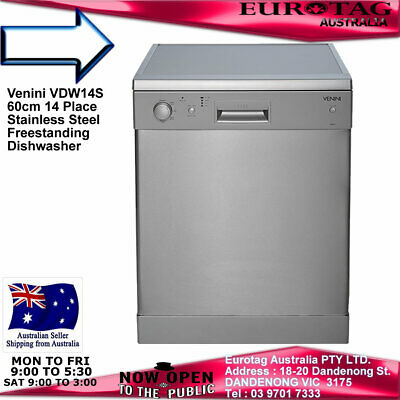 Eurotag W60A1A401F Freestanding Dishwasher Stainless Steel Brand New Rrp$695.00