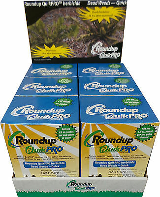 1 Case Roundup QuikPro Weed Killer Herbicide QuickPro - 30 Packets