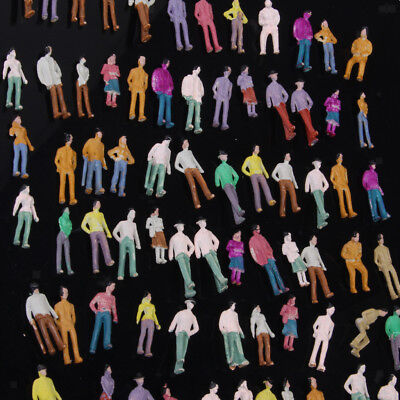 100 Painted Model People Architectural Train Figures HO