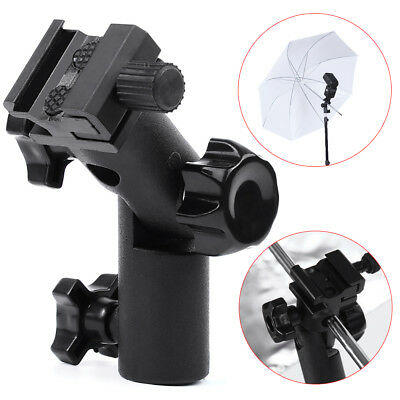 Swivel Flash Hot Shoe Bracket Mount Light Stand Type E Umbrella Holder For DSLR