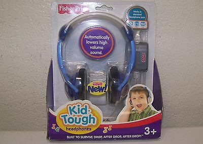 Fisher Price Kid Tough Headphones Blue New