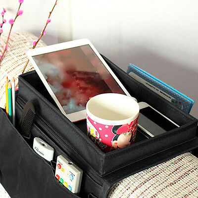 Arm Rest Chair Settee Couch Sofa Remote Control Table Top Holder Low-Cost