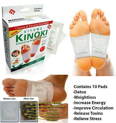 10 pc Kiyome KINOKI DETOX FOOT PADS Rids Body Toxins-WEIGHT LOSS & Stress Relief